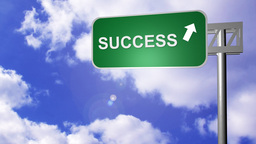 Signpost announcing the Success Way Footage