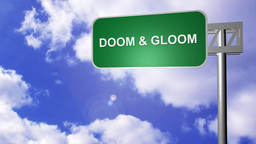 Signpost showing Doom and Gloom Way Footage