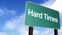 Hard Times Sign stock footage