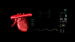 Video of an electrocardiogram Footage