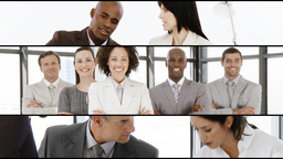 Animation of business people at work. Teamwork and business meeting Animation