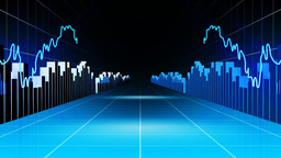 Animation of graphs and arrows. Stock market Animation