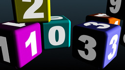 Colorful cube toys with numbers Animation