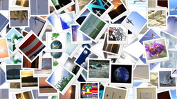 Renewable energy themed collage of Polaroid photog Animation