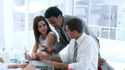 Business team working together in a meeting Footage