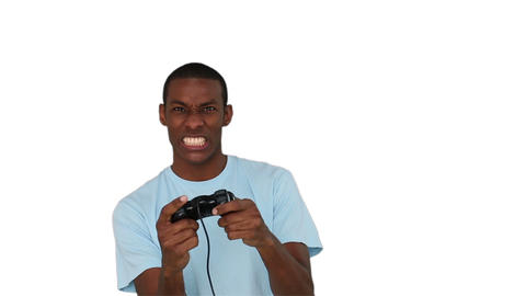 Casual young man playing video games Footage