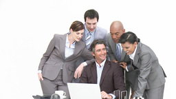 Business associates working in office Footage