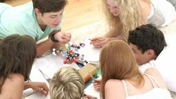Teens doing homework together Footage
