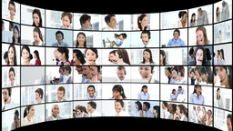 People in a business call centre Animation