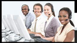 People in a business call centre in HD 1080 Animation