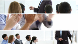 Businesss people giving presentations Animation