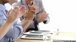 Business team applauding after a presentation Footage