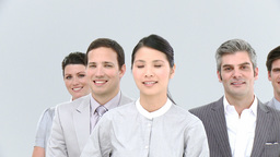 Portrait of asian businesswoman and her team Live Action