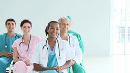 International medical in a meeting Footage