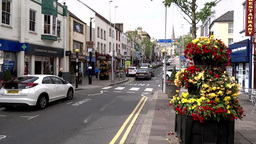 Ormagh Town, Northern Ireland stock footage