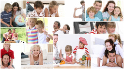 Video montage of kids enjoying spare moments Animation