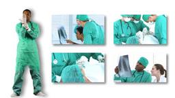 Montage of surgeons at work Footage