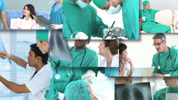 Footage montage of Surgeons at work Animation