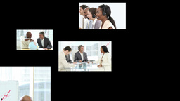 Footage montage showing business team work Animation