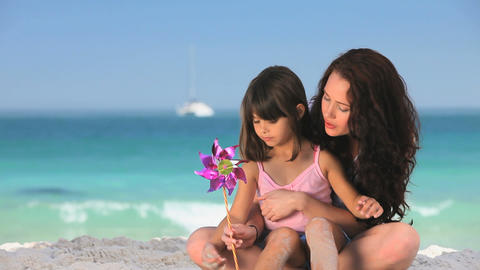 Mother enjoying time with her daughter Footage