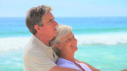 Mature couple on a beach Footage