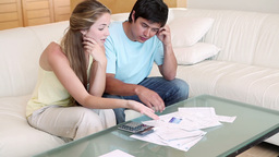 Couple having financial problem Footage