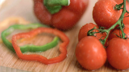 Different vegetables in super slow motion Footage