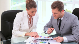 Business people working together on documents Footage