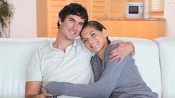 Relaxed couple watching the television Footage