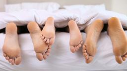 Feet stroking Footage
