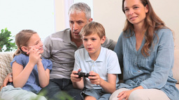 Little boy playing video games Footage