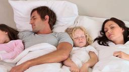 Peaceful family sleeping Footage