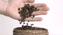 Beans in slow motion Footage