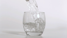 Water being poured heavily in super slow motion Footage