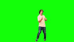 Man dancing in slow motion Footage