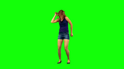 Teenage girl dancing in slow motion Footage