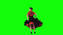 Flamenco dancer in slow motion Footage