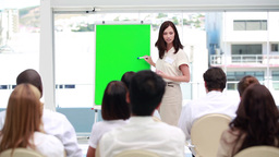 Businesswoman making a presentation Footage