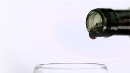 Wine being poured in super slow motion Footage