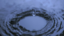 Drops of water in super slow motion making ripples Footage