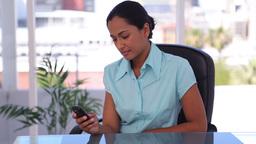 Woman sending a text message Live Action