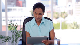 Businesswoman using a tablet computer Footage