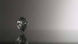 Clear diamond in super slow motion spinning Footage