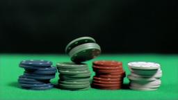 Gambling falling down in super slow motion Footage