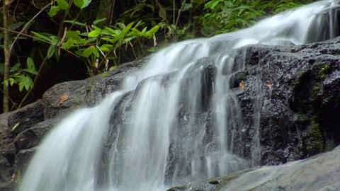 time lapse thai waterfall up loop Stock Video Footage