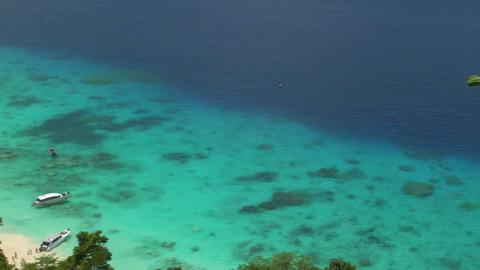 snorkeling in perfect similan beach Stock Video Footage