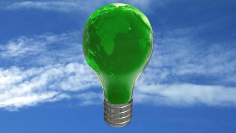 Earth bulb lamp Animation