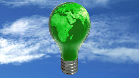 Earth bulb lamp Stock Video Footage