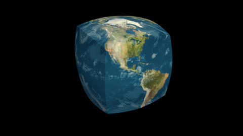 Earth cube Animation