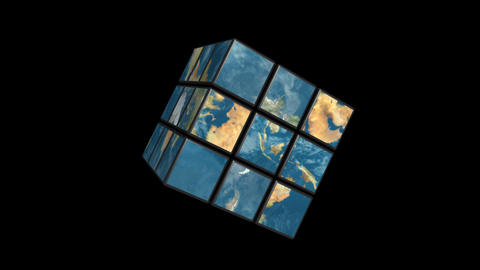 Earth rubik Animation